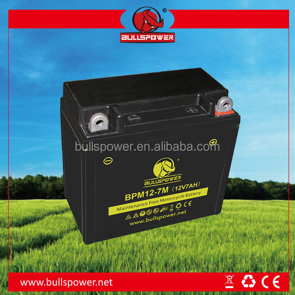 Best price 12V 7Ah mf motorcycle battery
