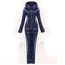 OEM customize down ski suit winter outdoor ski jumpsuit for women