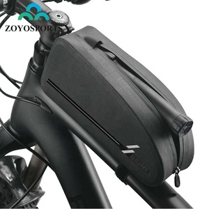 ZOYOSPORTS Large Capacity MTB Road Bike Cycling Pannier Waterproof Top Front Frame Bicycle Tube Bag