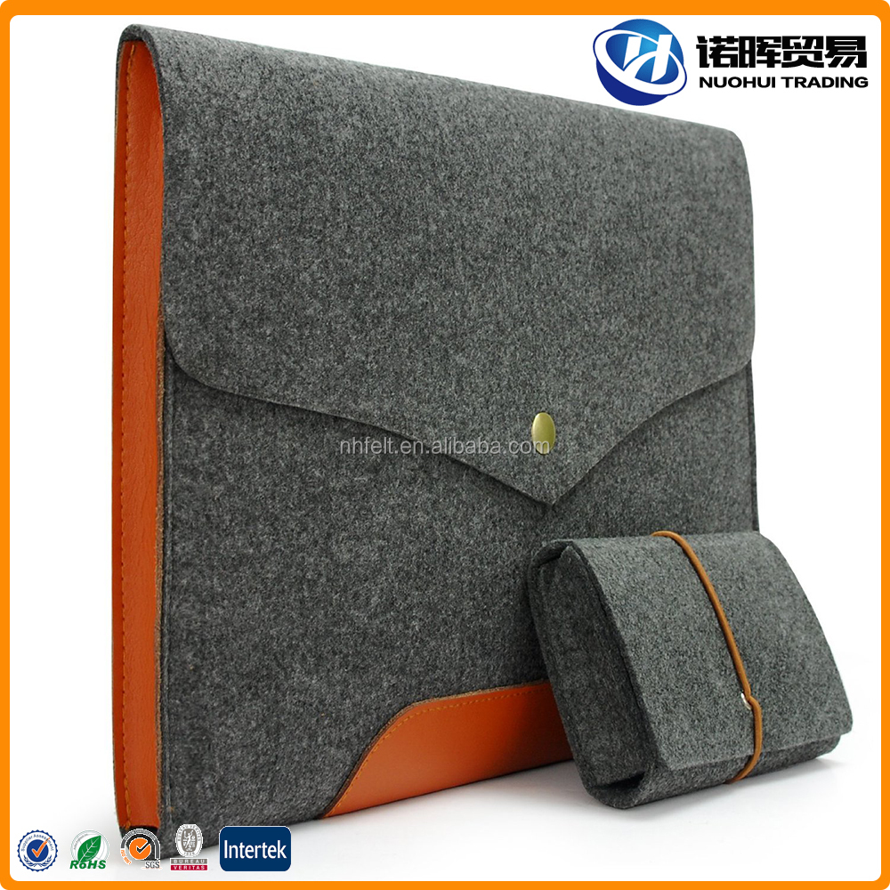 Factory Made Real Leather/PU Felt Bags for Laptop