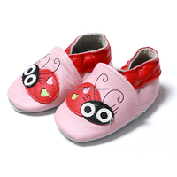 Fashion toddler newborn cute soft shoes crochet leather baby girls shoes with beatles