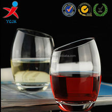 Special shape transparent ball cylinder wine/beer glass cup