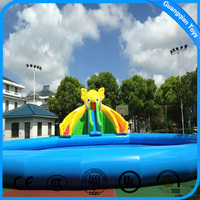 Outdoor Giant Elephant Inflatable Water Slide for Aqua Park