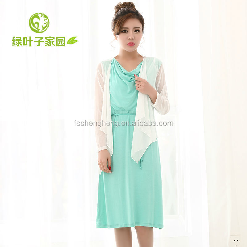 Chinese factory cotton maternity dress in malaysia BK066