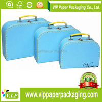 WT-PBX-673 PAPER CARDBOARD SUITCASE BOX WITH HANDLE