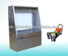 Manual screen washout booth