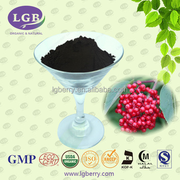 USDA,ISO,GMP Anthocyanin 5-70% Natural Wild Elderberry Extract