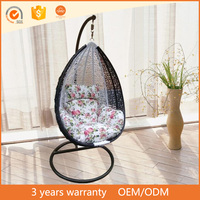 Cheap high quality round rattan bed outdoor swings for adults