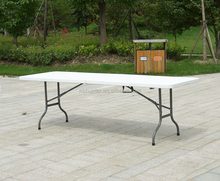 Plastic Folding Portable Table Outdoor Picnic Table With Carry Handles