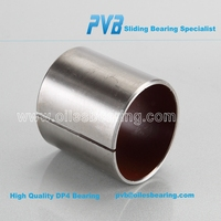 self lubricant teflon PAP P10 steel backced coated bearing,straight sleeve bushing,PTFE slide bushes