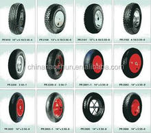 small solid pneumatic rubber wheels for caster