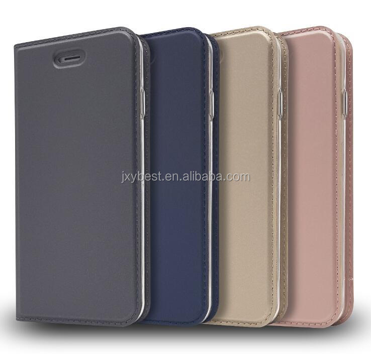 Wholesale for Ultra Thin Slim Folio Cover PU Leather Magnetic Protective case with Credit Card Slots for iphone X
