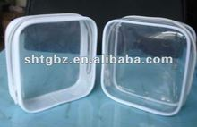 Clear Zipper PVC Pouch Bag for cosmetic sample displaying