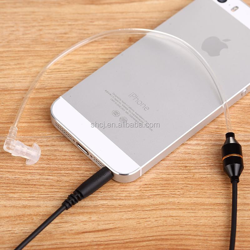 Microphone,Listen music/calling Function and In-Ear Style radiation free air tube earphone