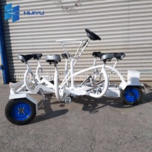 7 person tricycle Conference surrey bike with baby seat