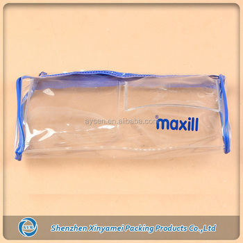 clear pvc pouch with zipper