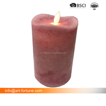 Flameless LED Pillar Candle with Moving wick