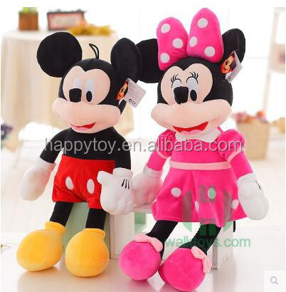 Plush toy soft for kids Mickey &Minnie mouse plush stuffed toy guangzhou factory custome design