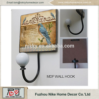 ELEGANT BIRD DESIGN WOODEN WALL HOOK,hanging bar hooks,hanging basket hooks