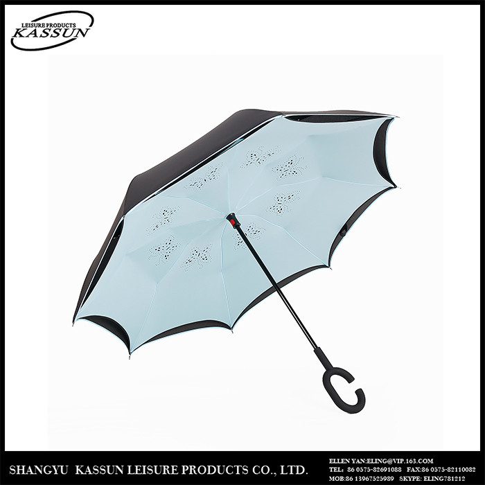 China mamufacturer top quality C shape reverse straight umbrella