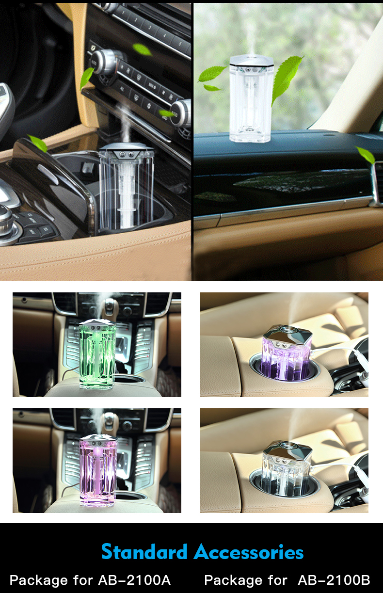Aroma lamp electric fragrance car diffuser air purifier humidifier