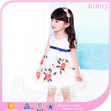 New Collection Children Wear Girls Fancy Nice Print Dresses For Kids