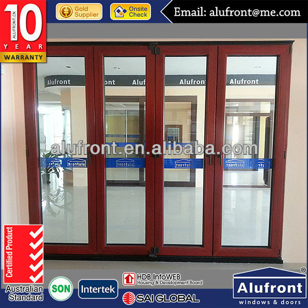 <strong>aluminium</strong> wood insulated folding door