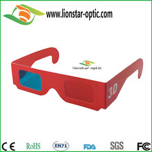 Passive 3D Red Cyan Glasses Custom Logo Paper Craft 3D Glasses