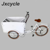 jxcycle tricycle cargo bike with wooden front box