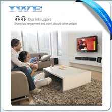 New products 2016 innovative product bluetooth transmitter receiver allow you to wear wireless headphone to watch TV