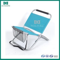 Camping stool folding low sand beach chair