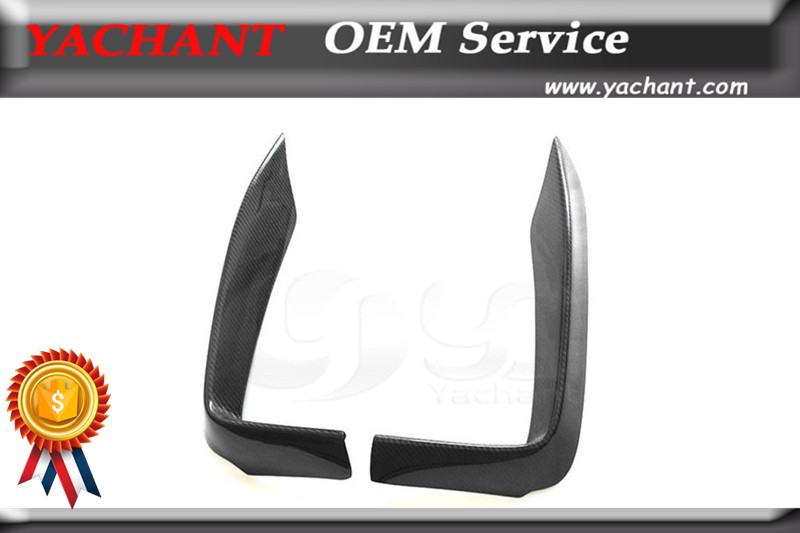 Trade Assurance Carbon Fiber Canards Fit For 2014-2015 4 Series Gran Coupe F32 F33 F36 End.cc Style Front Bumper Canards