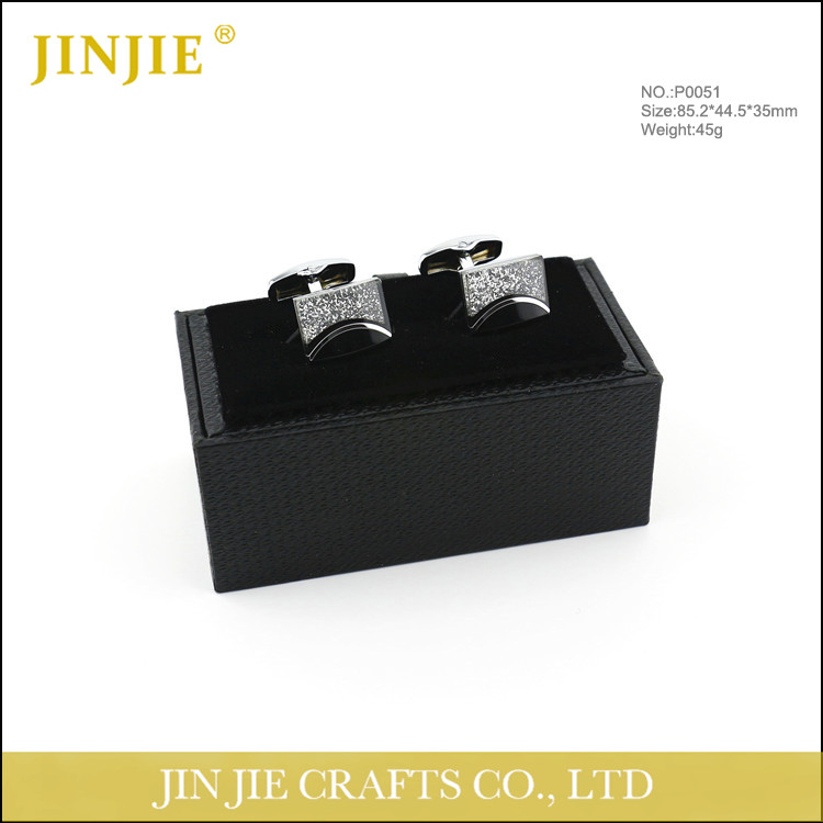 good quality cardboard paper cufflink box with velvet inside