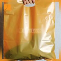 """Nelly"" Reusable And Printable PP Shopping Bags /with plastic tube inside of handle"