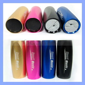 Sports Music Mini Speaker Protable Sound Box MP3 Player on bike bicycle with FM Radio Micro SD/TF support
