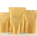 Unbleached Tea Bags Reclosable Kraft Paper Packaging Bag for loose tea