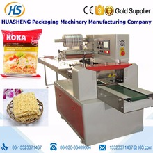 Horizontal flow instant food packing machine noodles in bag quickly wrapping machine
