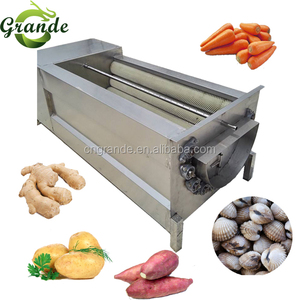 2018 GRANDE Automatic Carrot Washing and Skin Removing Machine Potato Cleaner and Peeler for Sale