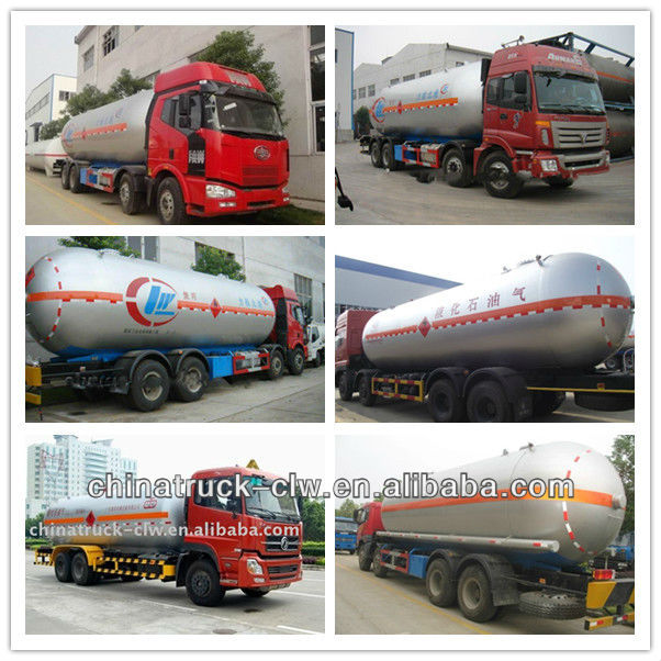 New Design 35m3 LPG tank truck 8X4 FAW Famous Brand for sale