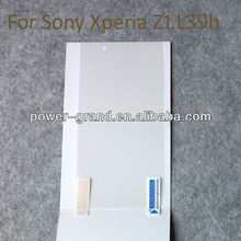 High clear screen protector for Sony L39h Xperia Z1, OEM/ODM