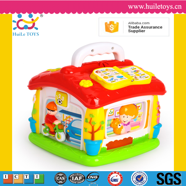Huile toys baby educational wholesale plastic mini house toy with EN71