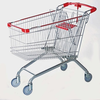 180L Heavy duty shopping trolley for super market Grocery Shopping Cart