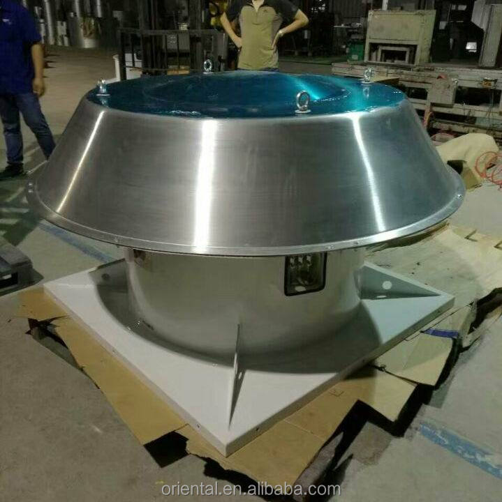 Roof mounted industrial exhaust fan, axial heavy duty roof top ventilation fan