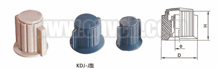 K08 guitar effects stove knob for potentiometer electric guitar tone plastic rotary knob