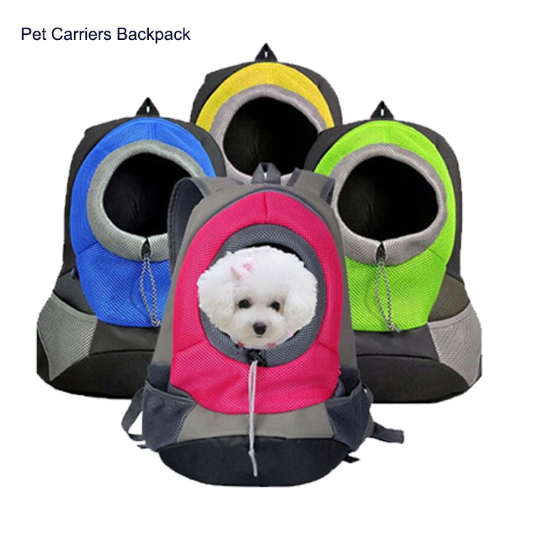 Outside Pet Carrier Bags for Small Dog, Cat Comfort Dog Travel Carrier Backpack Front