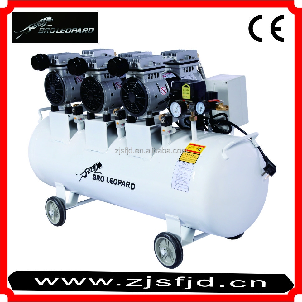 XDW1500x3 Oil-free MuteFood processing 4.5KW 120L spare parts for ingersoll rand rechargeable second-hand air compressor