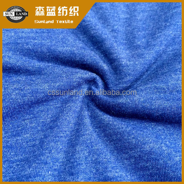 fashion clothing melange color yarn dyed 40 polyester 60 combed cotton fabric