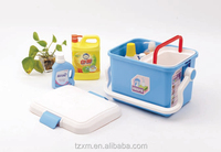 PP plastic carrier family cleaning box