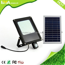 Newest hot sale model IP65 led flood light solar led wall light with pir motion sensor