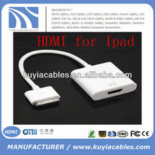 Dock to HDMI adapter AV HDTV for Apple New iPad 2 3 iPhone 4 4S iPod Touch 4G